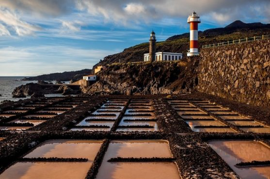 Salt works and lighthouse, Fuencaliente, La Palma