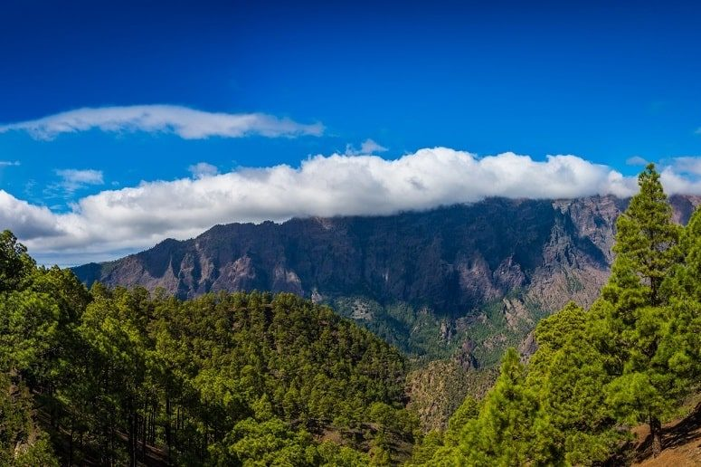 View into the Caldera de Taburiente, viewpoint, La Cumbrecita, La Palma