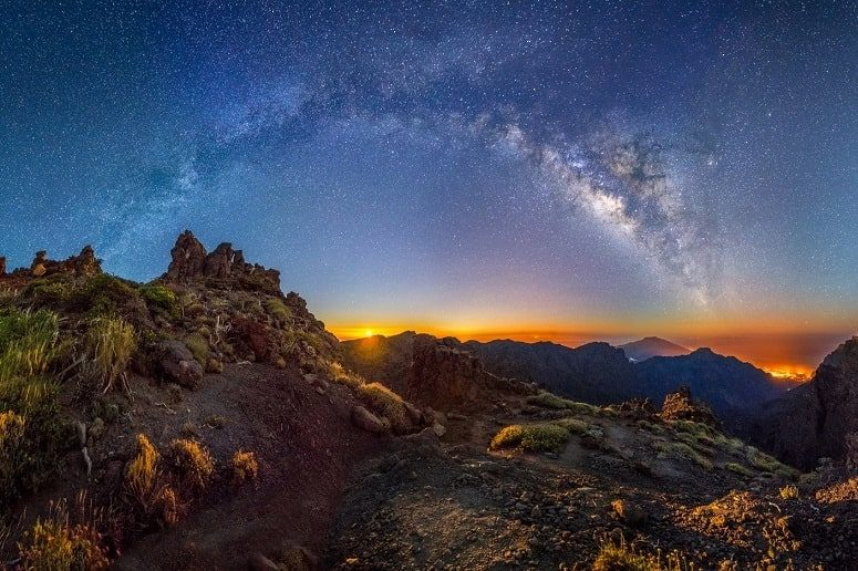 View from the highest mountain, Roque de los Muchachos, stars, astronomy, La Palma