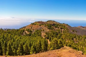 Volcano route, view over the island, La Palma
