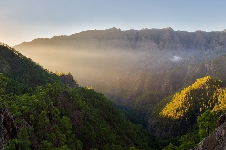 View into the Caldera de Taburiente, La Palma national park
