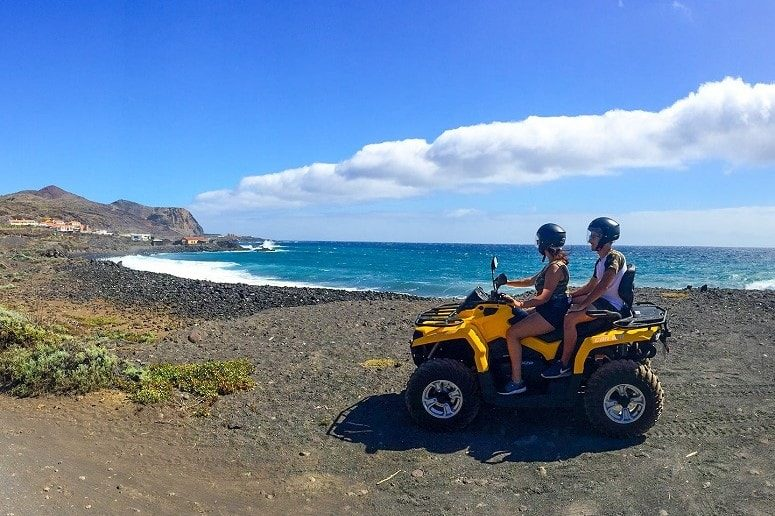 En la costa, Quad, La Palma