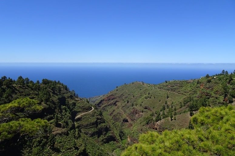 View from the northwest of La Palma