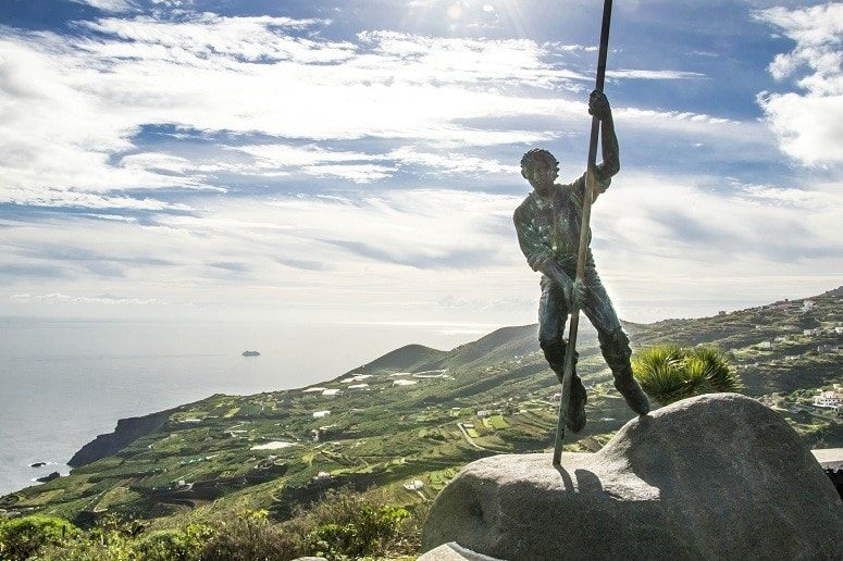 View Point, La Palma, East, Statue