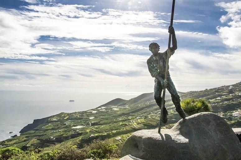 Aussichtspunkt, La Palma, Osten, Statue