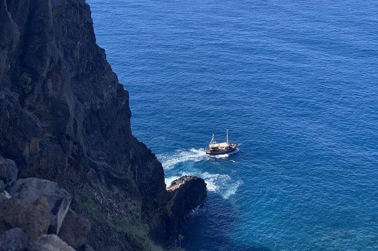 Boot vor La Palma