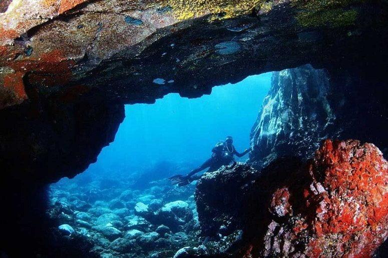 Cave, Atlantic, Diver, La Palma