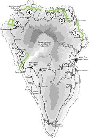 Mapa de la Caminata Go Nord