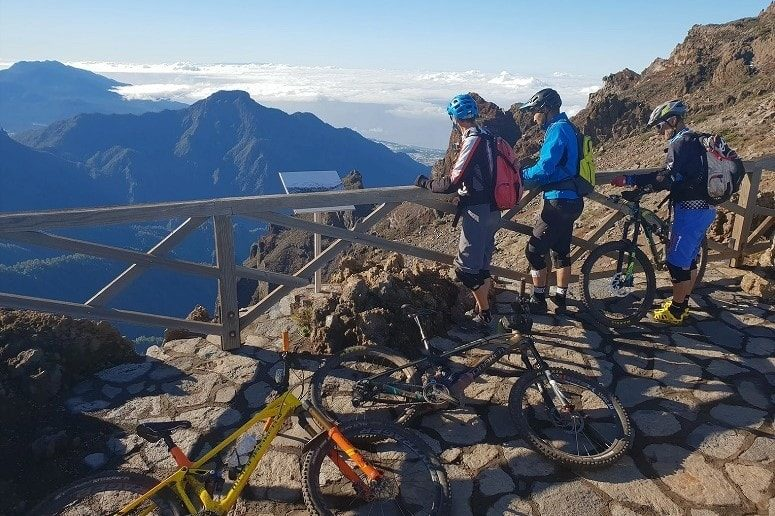Mountain bike tour on the top of the island, Roque de Los Muchachos
