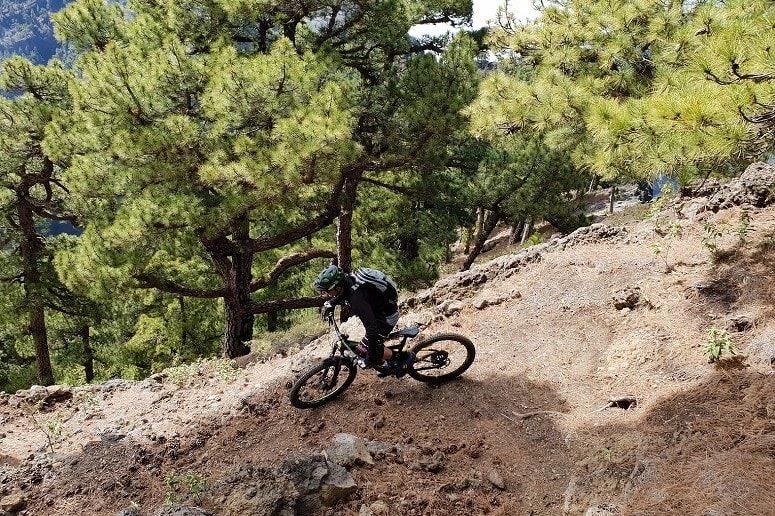 Mountain biking on La Palma