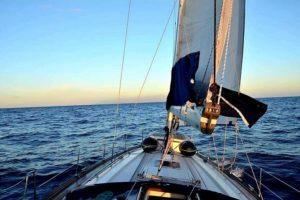 Navegar, puesta del sol, La Palma