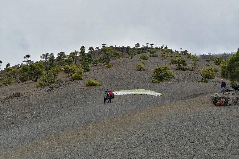 Paragliding La Palma, Start