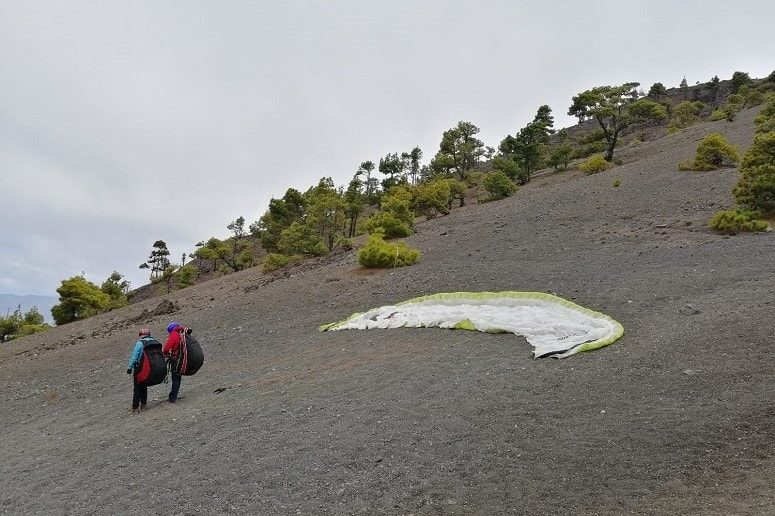 Paragliding on La Palma