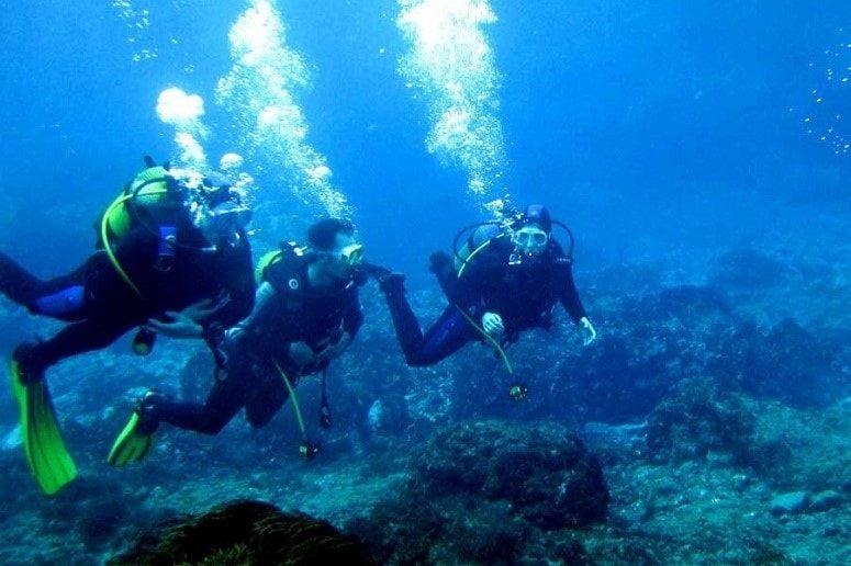 Diver in the Atlantic, La Palma