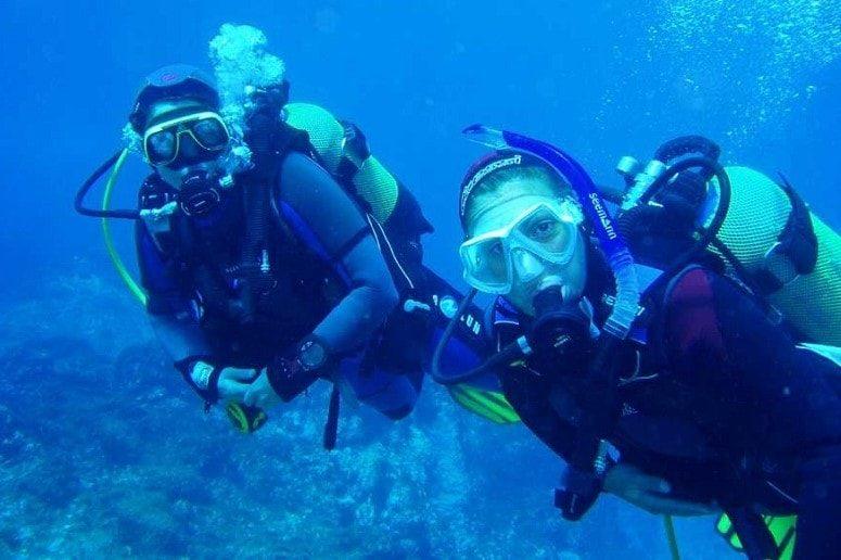 Diver underwater, La Palma