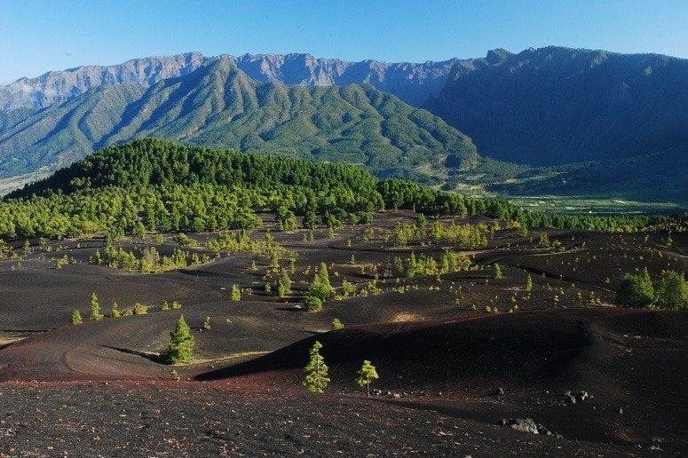 Volcanic landscape, Mountains, La Palma