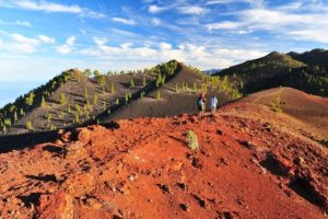Hiker on the Volcanoroute, La Palma