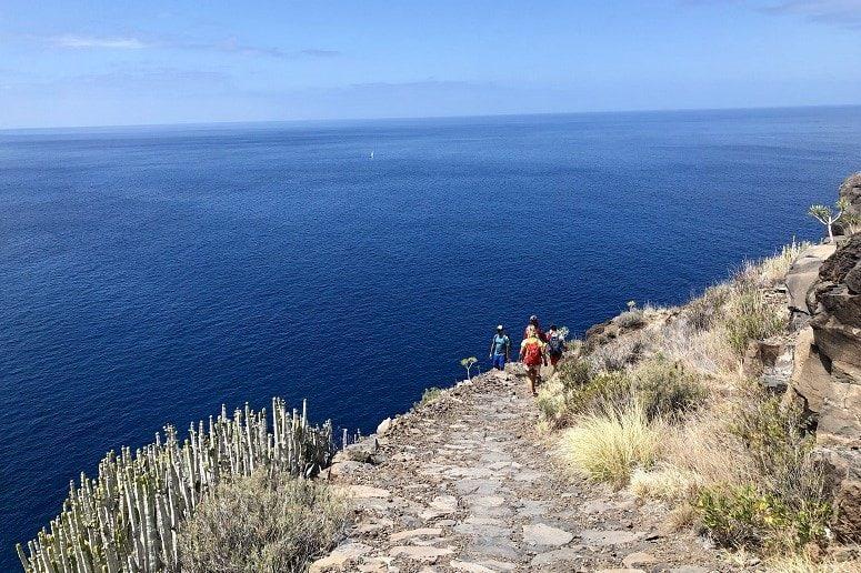 Wandern neben dem Atlantik, La Palma