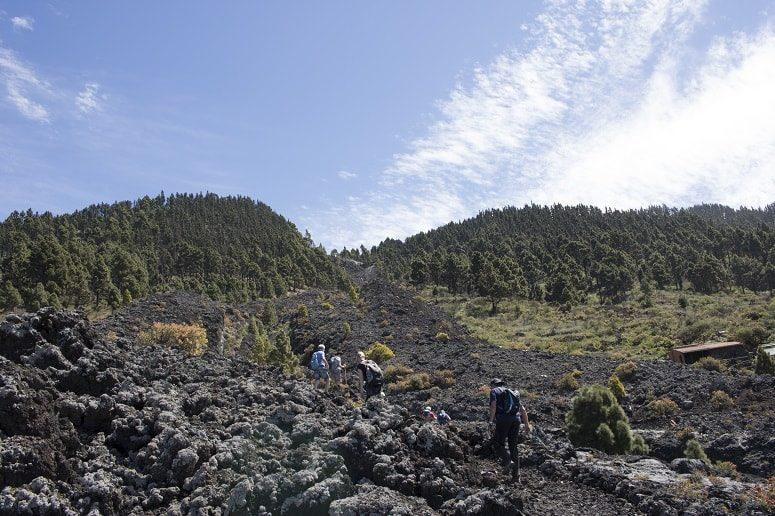 Spectacular lava flow, La Palma