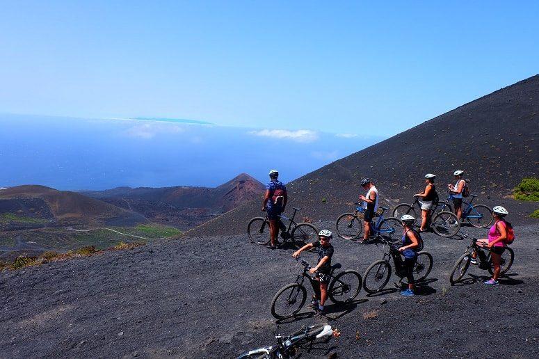 Group, Mountain Bike, Volcanoes