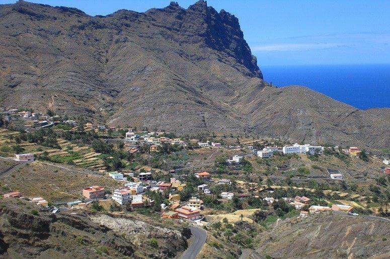 Blick, Tal, Atlantik, La Gomera
