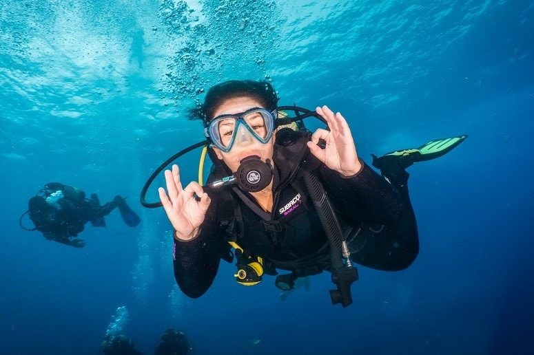 Diver on Tenerife