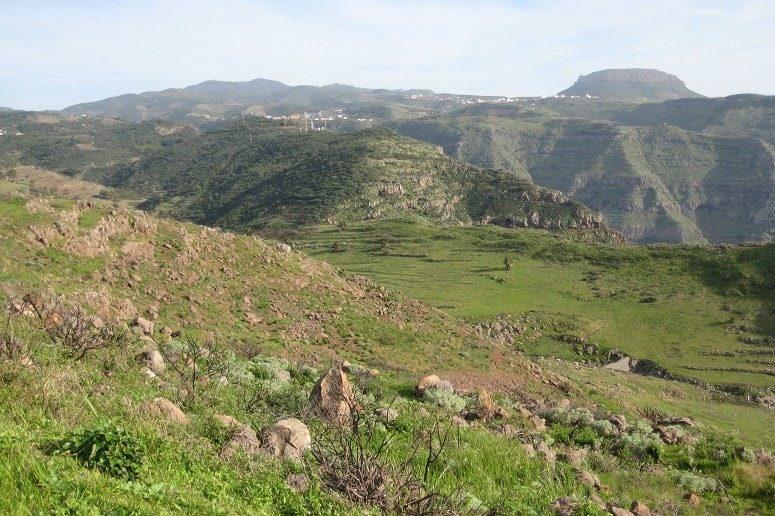 Wandern La Gomera, Blick in die Berge