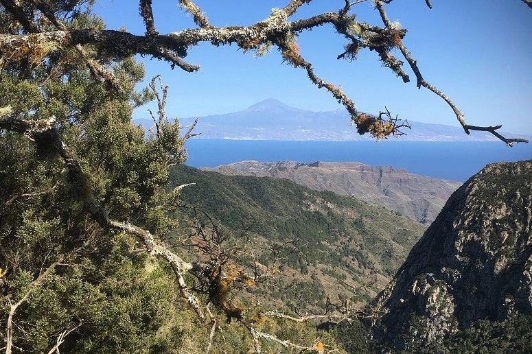 Blick auf Teneriffa, La Gomera, Rundfahrt