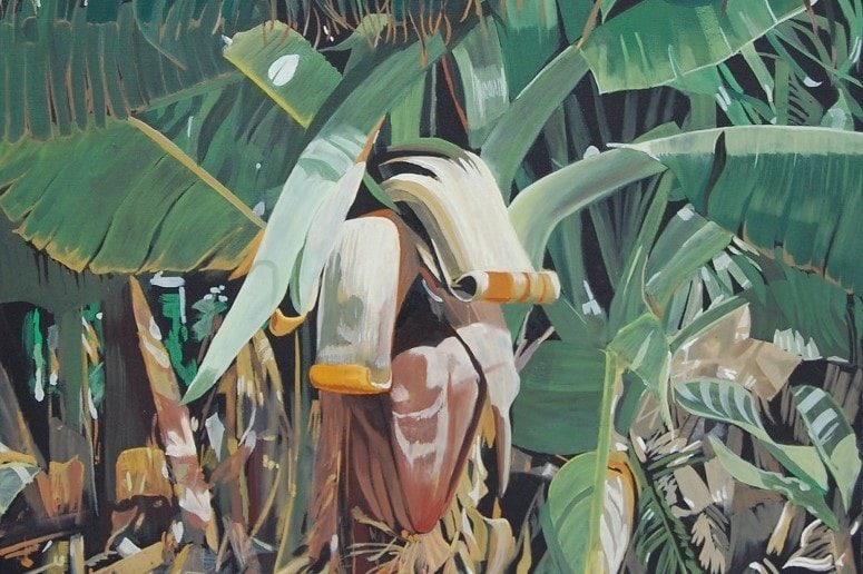 Early Bird, Öl auf Leinwand, Malen La Gomera