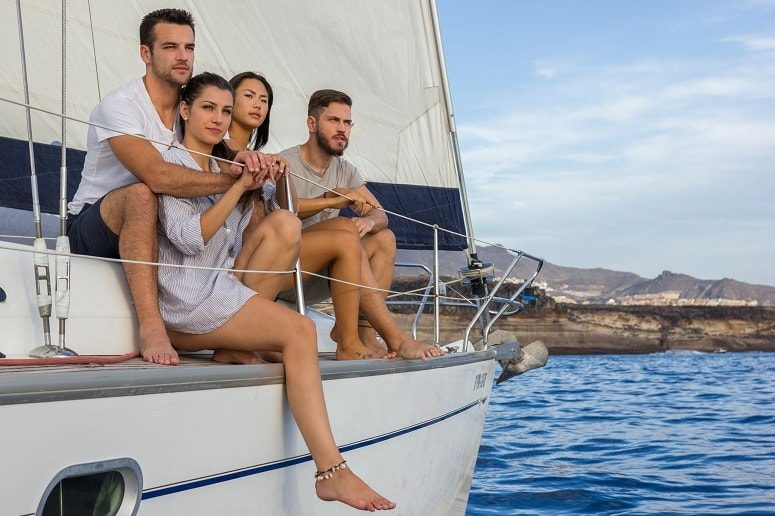 Privater Ausflug, Segelboot