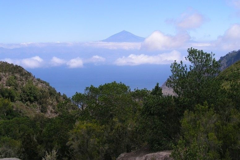 Ausblick, wandern La Gomera, Teide