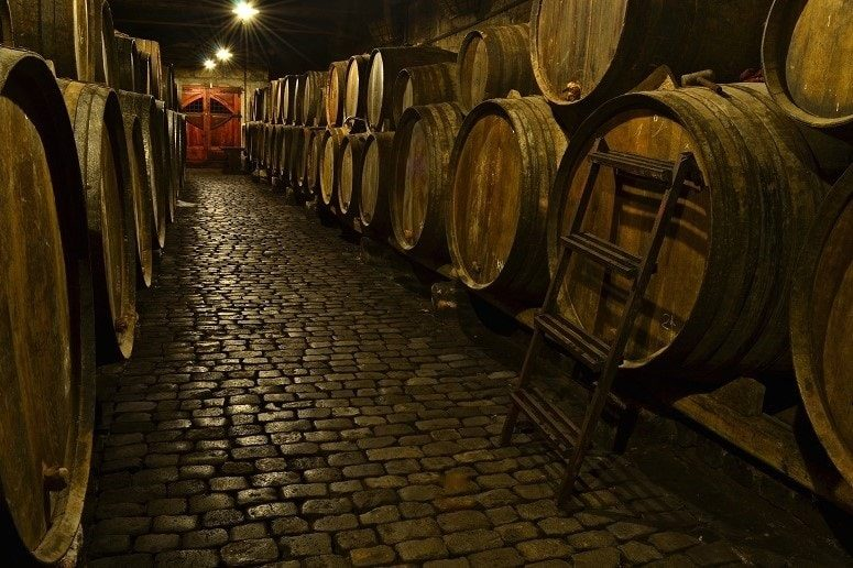 Traditional Bodega, Tenerife, wine barrel